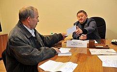 М. Пономарев врамках работы врегионе провел личный прием граждан вТюмени