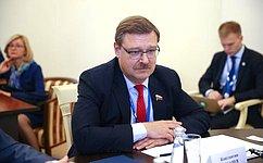 К.Косачев: ВСовете Федерации внимательно следят заразвитием политической жизни вМонголии