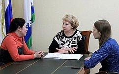 Р. Галушина: Входе приема граждан обсуждалась тема защиты прав школьников истудентов изчисла детей-сирот