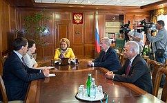 В.Матвиенко иН.Комарова обсудили перспективы социально-экономического развития Ханты-Мансийского автономного округа— Югры