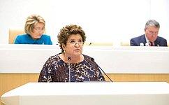 Л. Глебова рассказала освоей работе вкачестве полномочного представителя СФ вОбщественной палате РФ