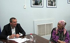 И. Мартынов провел вАстрахани прием граждан поличным вопросам