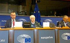 О.Тимофеева выступила вЕвропейском парламенте сдокладом, посвящённым теме самоопределения наций в1917–2017годах