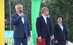 Баир Жамсуев принял участие вкультурно-спортивном празднике «Зунай наадан– 2019»