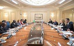 Председатель СФ В. Матвиенко встретилась сПредседателем Национальной ассамблеи Замбии П.Матибини