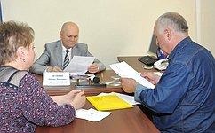 М. Щетинин врамках поездки вАлтайский край провел прием граждан поличным вопросам
