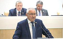 М. Дидигов представил итоги работы вкачестве полномочного представителя Совета Федерации вПравительстве РФ в2016г