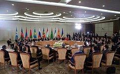 В.Матвиенко выступила сдокладом назаседании Совета глав государств СНГ врасширенном составе