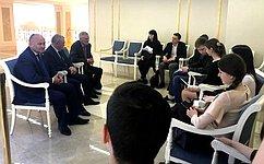 А. Кондратенко: Важно вести конструктивный диалог спредставителями молодежи
