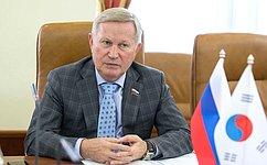 М.Афанасов: Парламентарии России иЮжной Кореи будут развивать взаимодействие, втом числе взаконодательной сфере