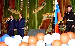 В.Лаптев поздравил жителей города Куйбышева Новосибирской области сДнем защитника Отечества