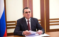 Н.Федоров принял участие вобсуждении новых законопроектов, направленных наобеспечение устойчивого развития экономики
