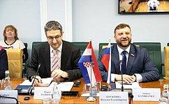 Группы посотрудничеству СФ иСабора Хорватии врежиме видеоконференции обсудили вопросы развития двусторонних связей