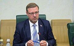 Давление Запада неможет препятствовать дальнейшему развитию отношений России иИрана— К.Косачев