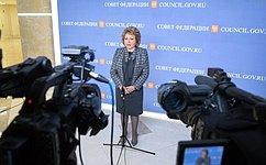 В.Матвиенко: Профильные комитеты СФ проанализируют ситуацию сценами наавиабилеты