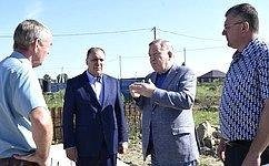 А. Карлин посетил Тальменский район Алтайского края