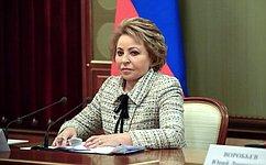 В. Матвиенко поздравила М.Ашимбаева сизбранием напост Председателя Сената Парламента Республики Казахстан
