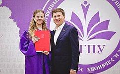 В. Харлов принял участие вцеремонии, посвященной выпуску студентов Ульяновского государственного педагогического университета
