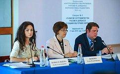 Е. Попова провела заседание секции повопросам развития сотрудничества России иДонбасса всоциокультурной сфере