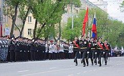 И. Мартынов принял участие впараде вчесть 70-летия Победы