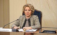 Председатель СФ В.Матвиенко провела встречу сГоссекретарем Союзного государства России иБеларуси Д.Мезенцевым