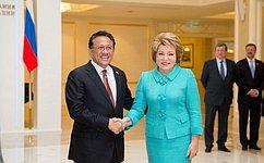 Председатель СФ В.Матвиенко испикер Сената Индонезии И.Гусман обсудили вопросы межпарламентского взаимодействия идвустороннего сотрудничества