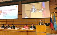 Россия представила ЮНИДО наш опыт ипроекты порасширению участия женщин вэкономике— Г.Карелова