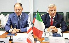 Ю. Волков встретился сделегацией представителей органов власти ибизнеса Сардинии (Итальянская Республика)