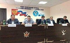 В. Полетаев встретился ссотрудниками органов следствия иисполнения наказания Республики Алтай