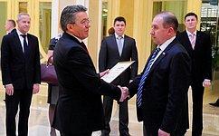 ВСовете Федерации вручили почетные грамоты участникам поискового движения