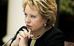 В. Матвиенко: Эра холодных отношений спарламентами Запада наисходе. Интервью Председателя Совета Федерации сайту «Аргументы иФакты»