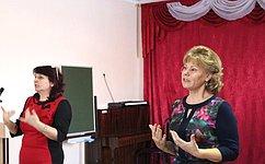 Т.Гигель врамках рабочей поездки вРеспублику Алтай посетила школу-интернат для глухонемых детей