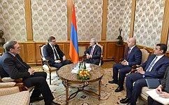 К. Косачев вЕреване был принят Президентом Армении С.Саргсяном