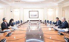 С. Мартынов: Совет Федерации иАппарат СФ готовы развивать межпарламентские связи сюжнокорейскими коллегами