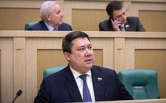В. Полетаев избран первым заместителем председателя Комитета СФ поконституционному законодательству игосударственному строительству