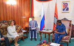 Federation Council Speaker Valentina Matviyenko holds talks with President ofZambia Edgar Lungu