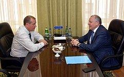 В.Шуба провел рабочую встречу сгубернатором Иркутской области С.Левченко