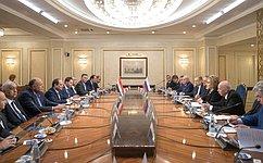 Председатель СФ В.Матвиенко провела встречу сПрезидентом Арабской Республики Египет А.Сиси