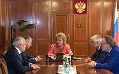 Председатель СФ иглава Республики Северная Осетия– Алания обсудили перспективы социально-экономического развития региона