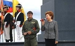 Г.Карелова приняла участие вцеремонии открытия второй смены Всероссийского военно-исторического лагеря «Бородино– 2017»