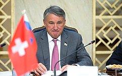 Ю. Воробьев: ВСовете Федерации придерживаются линии наукрепление сотрудничества сошвейцарскими коллегами