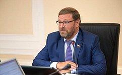 Двусторонние связи полинии комитетов помеждународным делам СФ иСената Италии будут активизированы— К.Косачев