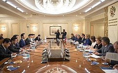В.Матвиенко: Российско-японские межпарламентские контакты существенно активизировались