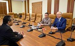 Ф.Мухаметшин иПосол Йеменской Республики вРФ обсудили отношения попарламентской линии