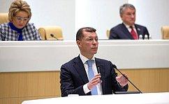 М. Топилин рассказал сенаторам опринимаемых Правительством РФ мерах поусилению социальной поддержки граждан