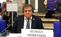 В. Джабаров: Навстрече сглавой ПА ОБСЕ осуждались вопросы дальнейшего взаимодействия Ассамблеи ироссийской делегации