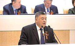 С. Калашников представил отчет обитогах работы Временной комиссии СФ помониторингу экономического развития