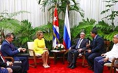 В.Матвиенко: Россия сохраняет приверженность линии навсестороннее укрепление стратегического партнерства сКубой