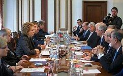 В.Матвиенко: Впоследние годы российско-уругвайские межпарламентские контакты активизировались