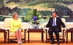 Состоялась встреча Председателя СФ иПредседателя КНР